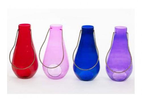 """Lanterna in vetro colorato """"Ampolla GIGANTE"""" 26 cm"""