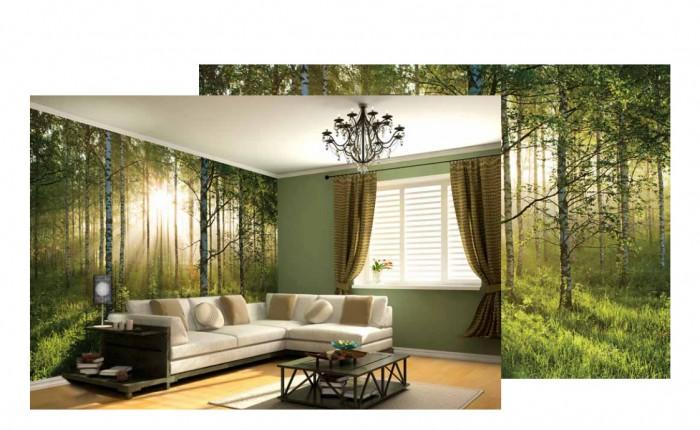 decorazione gigante da muro foresta maxi sticker da