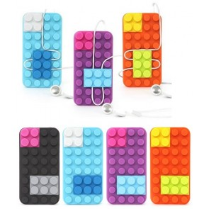 Blocks Case - Cover per iPhone 4 a forma di Mattoncini